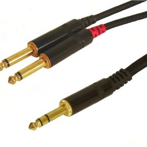 "1/4"" TRS to Dual 1/4"" Mono Plug (12 ft) with PVC Jacket"